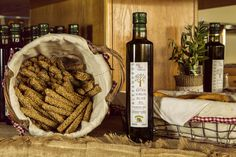 Alexandros: the extra virgin olive oil from the finest Koroneiki olives, cultivated by our family in Theologos, Rhodes. Freshly Baked, Rhodes, Yummy Snacks, Bread Baking, Deli, Stuffed Mushrooms, Tasty, Olive Oils, Pure Products