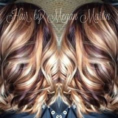 blonde hair with cherry and chocolate lowlights - Google Search