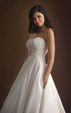 Unique Strapless Court Train Chiffon Princess Sleeveless Princess Wedding Dresses-13- Pro dresses_218 just so elegant and lovely