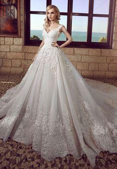 Featured Dress: Tony Chaaya; Wedding dress idea.