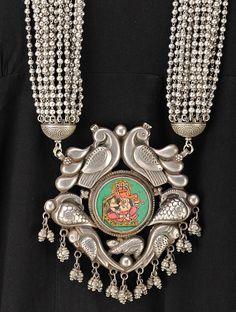 Buy Lord Ganesha Silver Necklace Online at Jaypore.com