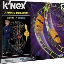 Brand: K'NEX MPN: 51441 UPC: 744476514417   K'NEX Atomic Coaster    Stands over four feet tall when constructed   1,255-piece kit delivers a substantial and   stimulating construction experience    Motorized chain lift keeps your cars   racing hands-free    Set can be reassemb...