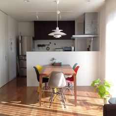 Ph Lamp, Japanese Kitchen, Tiny House Design, Kitchen Living, My Room, Lamp Light, Decoration, Home Kitchens, Small Spaces