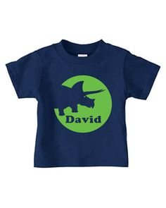 Personalized dinosaur t-shirt for kids featuring triceratops, boy or girl