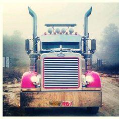 <3 Peterbilt All Truck, Big Rig Trucks, Hot Rod Trucks, Semi Trucks, Cool Trucks, Pink Cars, Future Trucks, Chevy Girl, Custom Big Rigs