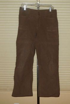76e03fcc64 women's THE NORTH FACE Zip Off Conversion Nylon Cargo Pants Sz 8 Short  BROWN #fashion