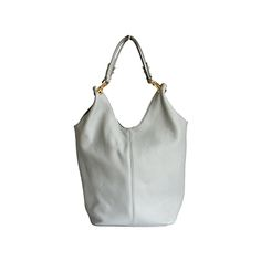 Light Grey Leather Shopper Bag With Detachable Clutch Bag/Document Holder - Leather Hobo Bags, Leather Shoulder Bag, Shoulder Bags, Grey Leather, Soft Leather, Italian Women, Document Holder, Shopper Bag, Italian Leather