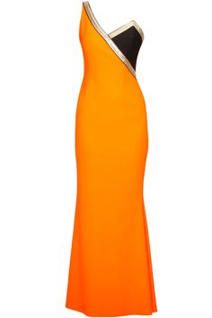 Orange carousel talk of the twon one shoulder gown available only at Pernia's Pop Up Shop.