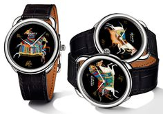 HERMES Arceau Cheval d'Orient Hermès have applied in miniature to a new limited edition collection of three new watches of the Arceau Cheval d'Orient name Audemars Piguet, High End Watches, Watches For Men, Cartier, Versace, Hermes Watch, Oriental, Orient Watch, Ralph Lauren