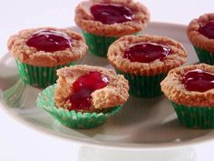 Mini Almond Butter and Strawberry Muffins from FoodNetwork.com Fun for a kids party.