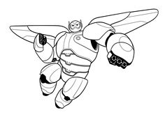 Free Printable Big Hero 6 Baymax Coloring Pages For Kidsprint Out Disney Characters Kidsonline How To Draw
