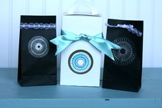 Super cute little gift bags made with Klutz Books Spiral drawing