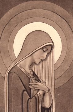 Art Deco holy card of the Immaculate Conception