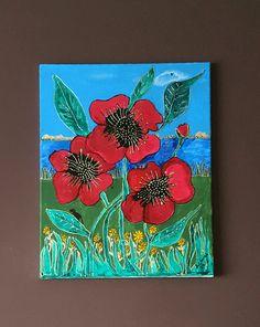 Poppies mixed media