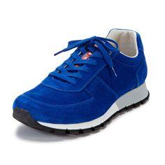 75b1bb98ca4 Prada Blue suede running sneakers  ArtieBobs  MensFashion  Blue Prada  Sneakers