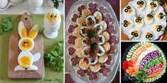 Easter Recipes, Appetizer Recipes, Appetizers, Party Platters, Food Platters, Food Carving, Christmas Party Food, Food Garnishes, Egg Decorating