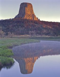 Devil's Tower reflection