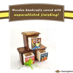 Wooden handcrafts carved with unparalleled finishing! #HomeDecor #Homefurnishing #Classyplus