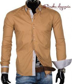 Horčicová pánska košeľa  shirt  men  mensshirts  elegant  panskakosela   muzi   8cbf46ddf06