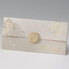 "Einladungskarte ""Goldene Ornamente"""