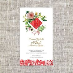 Diy Printable Editable Chinese Wedding Invitation Card Rsvp Template Instant Water Color Lace Traditional 婚禮喜帖 喜喜double Hiness