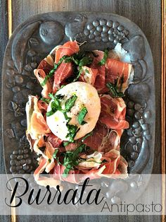 Burrata antipasto. - This tempting little appetizer will be my go to all season. Two minutes to prep and hey, no cooking involved! A Life From Scratch.