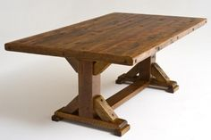 Dining Room idea Barnwood Table Trestle Base 2
