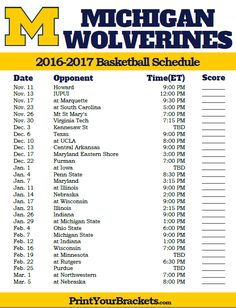 graphic relating to Ku Basketball Schedule Printable identified as 75 Least difficult Higher education Basketball Schedules pics inside 2016