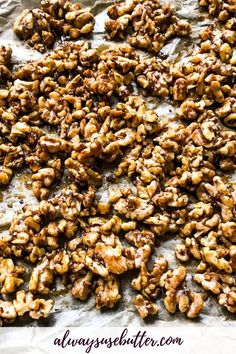 Wondering how to make the best candied walnuts? This salted & spiced version with brown & white sugar is quick to make stovetop, dairy free and perfect for snacking or topping all your desserts for fall & Christmas. Spiced Walnuts Recipe, Candied Walnuts, Fall Recipes, Snack Recipes, Healthy Recipes, Healthy Foods, Dessert Recipes, Healthy Sweet Treats, Dinner Recipes Easy Quick