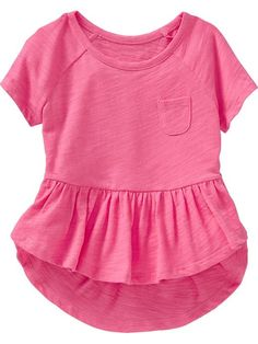 Jersey Peplum-Hem Tees for Baby Product Image