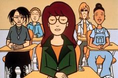 Daria Morgendorffer: The Last of the Great Cartoon Characters — Behind the Hype Daria Morgendorffer, Daria Mtv, Happy Facts, Angry Girl, Theme Tunes, Theme Song, Dry Humor, Buffy The Vampire Slayer, Mean Girls