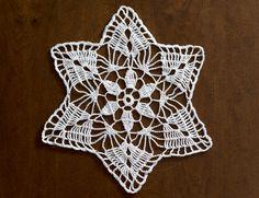 Lace Doily Crochet White Small Round  Decoration by MaddaKnits
