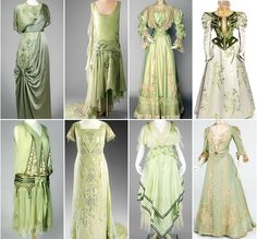 "warpaintpeggy: "" dandelionofthanatos: "" ceruleancynic: "" warpaintpeggy: "" some of my favorite vintage dresses ↳ green "" these are gorgeous aaaaaand at least one of them was dyed with an arsenic..."