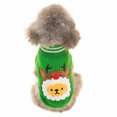 OMEM Christmas cat Costumes, Christmas Holiday Festive Dog Weaving Sweater ** Details can be found  : Cat sweater