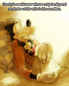 So sad, but this is why I love goofy and why I think Disney did such a great job developing him as a character over the years. And another reason why I hate mickey mouse club house! Especially pete and goofy. Disney And More, Disney Love, Disney Magic, Disney Stuff, Disney And Dreamworks, Disney Pixar, Disney Characters, Goofy Disney, Sad Disney