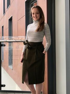 Diary of a Chain Stitcher: Khaki Green Brushed Cotton Orageuse Berlin Skirt