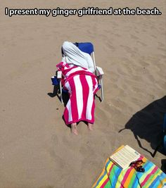 Funny pictures about If you leave a ginger at the beach. Oh, and cool pics about If you leave a ginger at the beach. Also, If you leave a ginger at the beach. Funny Images, Funny Pictures, Caption Pictures, Hilarious Pictures, Beach Humor, Funny Beach, Ginger Girls, Funny Captions, Beach Pictures