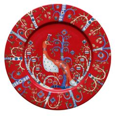 Taika collection by Iitalla, https://www.iittala.com/Tableware/Taika-Plate-22-cm-red/p/X500650