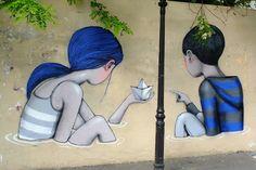 Seth - street art - Paris 13 - place de la commune de Paris