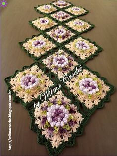 Wilma Crochê ~ Table Runner - Pictorial