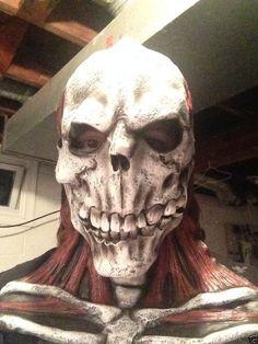 Scary Man Woman Adult Latex Mask Horror Zombie Skeleton Halloween Iron Maiden