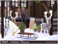 Sims 4 CC's - The Best: Winter Outdoor Decor set by Severinka