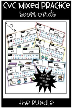 Are you looking for an interactive, no prep, digital resource? Your students will LOVE this complete bundle of Boom cards. These task cards have your students listening to the word, spelling the word, finding the correct picture, and even getting typing practice to type the word!