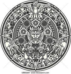 First aid coloring pages mandala inspired by inca maya and aztec art. Mandala Tattoo Design, Mandala Arm Tattoo, Aztec Tattoo Designs, Aztec Designs, Mandalas Painting, Mandalas Drawing, Mandala Coloring Pages, Adult Coloring Pages, Coloring Books