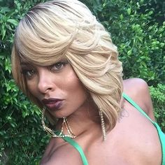Blonde Long Bob for African American Women