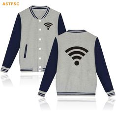 >> Click to Buy << Fashion Design Free Wifi Funny Print Jacket Men Funny Cardigan In Shirt Mens Jackets And Coats Elegant Clothes 4XL XXS BTS #Affiliate