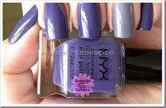 esmalte importado Extreme Purple - NYX + Ventinho Bom - Colorama #nailpolish #esmaltesempre