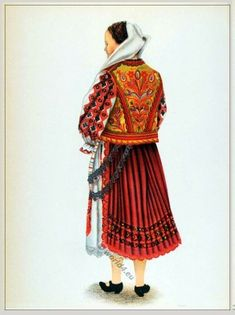 Popular Folk Embroidery Peasant woman from Hunedoara Transylvania. - Peasant woman from Hunedoara (Tărancă din Hunedoara). Folk Embroidery, Learn Embroidery, Embroidery Patterns, Fashion History, Fashion Art, Folk Costume, Costumes, Young Frankenstein, Medieval Clothing