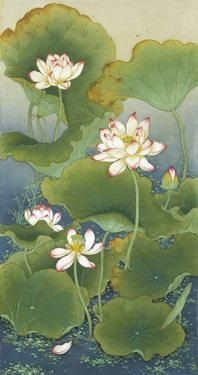 """""""Lotus Pond"""" -- by An He (Chinese, b.1957)"""