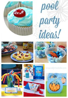 15 Awesome Pool Party Ideas #littleswimmers #sp